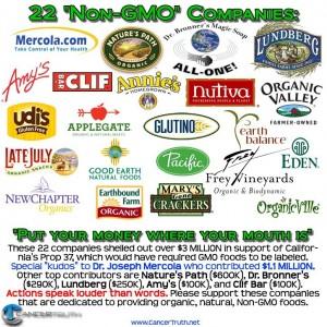 22 non-gmo companies
