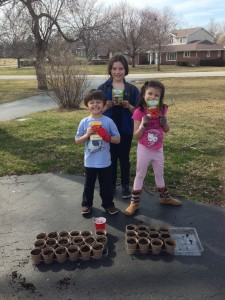 Kids with seeds